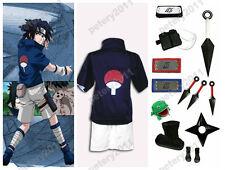 Custom-made Naruto Sasuke Uchiha Cosplay Costume Set