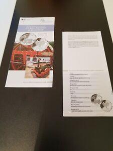 VfS-Flyer-Zertifikat-fuer-10-Euro-Silber-Gedenkmuenzen-pP-2010-175-J-D-Eisenbahn