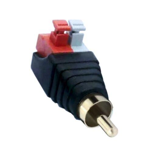 RCA Cinch Buchse und Stecker Set Adapter Terminalblock Push-in-Fittings Steckan