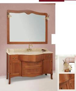 Arredo bagno classico tivoli legno massello finitura ciliegio ebay - Mobili arredo bagno classici ...