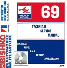 1969 AMC Javelin Rebel Ambassador Shop Service Repair Manual CD