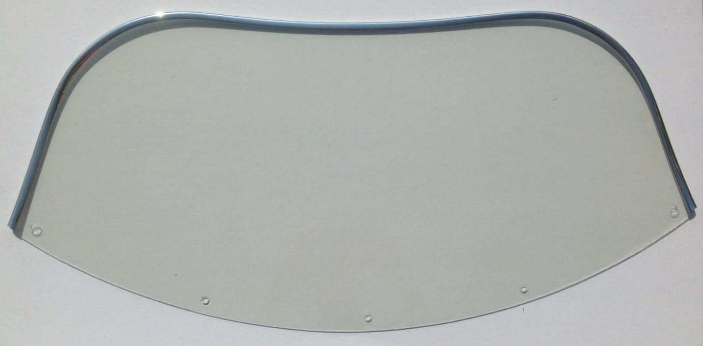 Windshield - Arctic Cat 1970 Panther 1971-73 Lynx  Clear Chrome trim