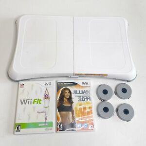 Nintendo Wii Balance Board Bundle With 2 games Wii Fit Jillian Michaels 2011