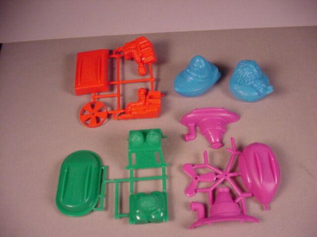 1987 McDonald's boats 5 toys snap together kits & U3 Happy Meal Sailors Mint new