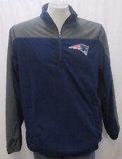 New England Patriots Men's Large 1/4-Zip Pullover Fleece Warm-Up Jacket NFL A14M
