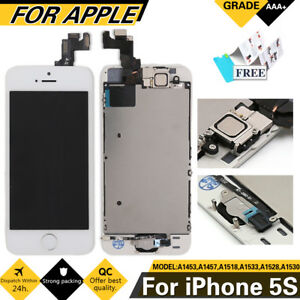 For iPhone 5s White Touch Screen LCD Digitizer Replacement  Home Button Camera - Portsmouth, United Kingdom - For iPhone 5s White Touch Screen LCD Digitizer Replacement  Home Button Camera - Portsmouth, United Kingdom