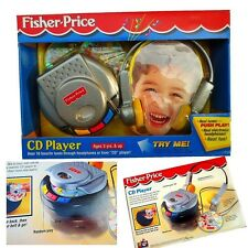 Baby Toddler Kid Child Pretended Play Fisher Price CD Player Tunes Headphone Toy