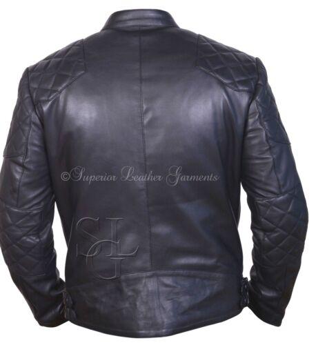 Leather Jacket Biker Slim Fit Mens Black Leather Jacket