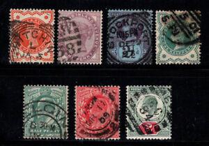 Grossbritannien-1881-1902-Gestempelt-100-Koenigin-Victoria-Edward-VII