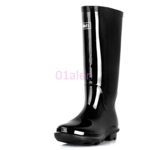 Men/'s Knee High Tall Waterproof Rain Rubber Galoshes Wellies Wellington Boots