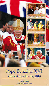 Guyana-2013-neuf-sans-charniere-papal-retrospective-le-pape-Benoit-XVI-Grande-Bretagne-visiter-4V-m