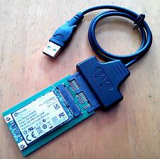 USB micro SATA cable + Mini PCIe m pci-e to mSATA 3x5 SSD micro SATA Adapter