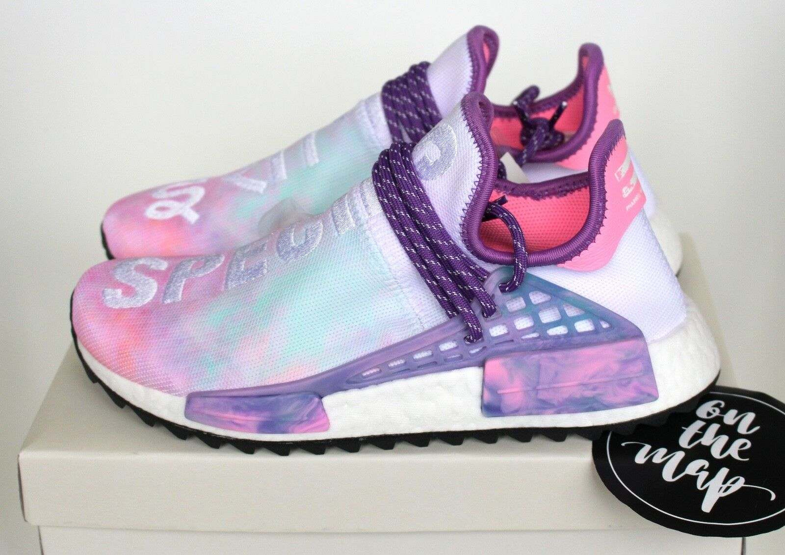 Adidas Pharrell Human Race HU Holi NMD Trail Pink Glow Powder Dye 3 4 5 7 8 9 10