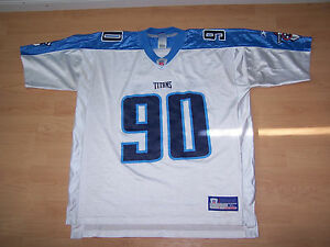 NFL TITANS Mens Long Sleeve REEBOK  90 JEVON KEARSE Jersey Size XL ... a55c8a49d