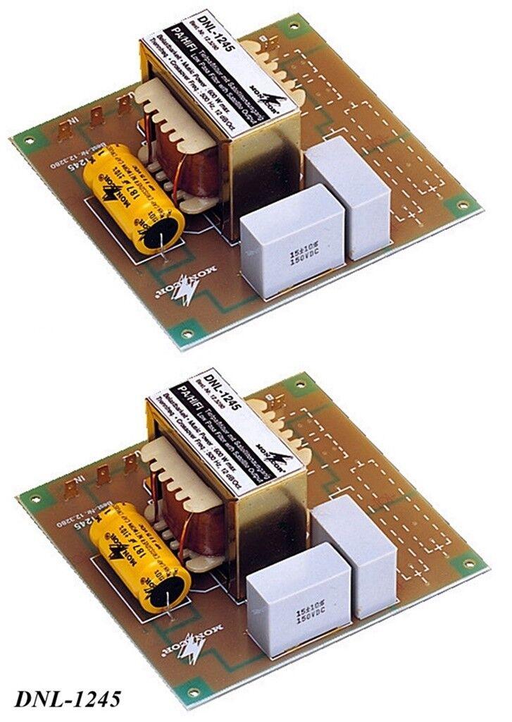 2 trozo de frecuencia frecuencia frecuencia suave Monacor dnl-1245 (8 Ohm, 2-weg, 200hz, 12 6db)  Obtén lo ultimo