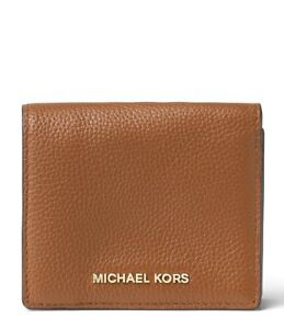 d9731a760064 NWT Michael Kors Mercer Leather Carryall Card Case Wallet (Luggage ...
