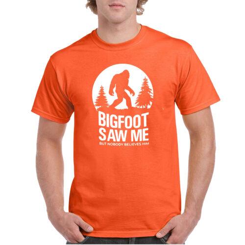 Bigfoot Saw Me But Nobody Believes Him T-shirt Funny Camping Hiking Shirts Tee