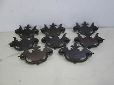 8 Vintage Flat Chippendale Style Drawer Pulls #464