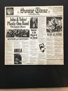 JOHN-LENNON-amp-YOKO-ONO-Sometimes-in-NY-City-2xLP-Vinyl-VG-VG-PCSP-716-Apple-UK