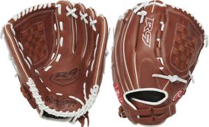 """Rawlings R9SB120-3DB 12/"""" R9 Gold Glove Fastpitch Softball Glove Female"""