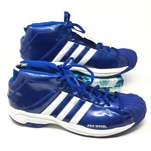 Details about Men's NEW Adidas Pro Model 2G Size 16 Sneakers Shoes Basketball Blue White S4