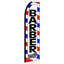 Barber Shop Swooper Flutter Feather Bow Blade Banner Flag Only Sign Rwb