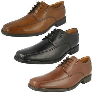 Cuero De Negro Andar Oscuro Clarks marrón Detalles O Tilden Zapatos Elegantes Con Hombre 54Rj3AL