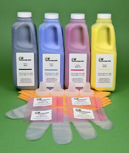 Xerox Phaser 7400DN 7400DT Four Color Toner Refill Kit with Chips