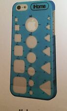 New iHome Stencil Case for iPhone 5/5s Blue Phone Cover Screen Protector Cloth