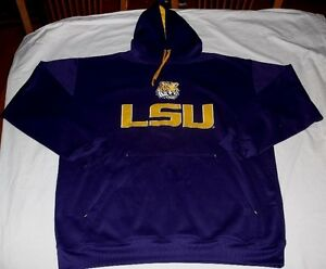 LSU-Tigers-Hoodie-5XL-Purple-Section-One-Collection-Majestic-Hooded-Sweatshirt