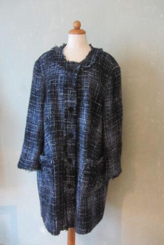Selection j1 Veste Ulla Court Manteau Taille By 50 Popken Noir Bleu araqwgU