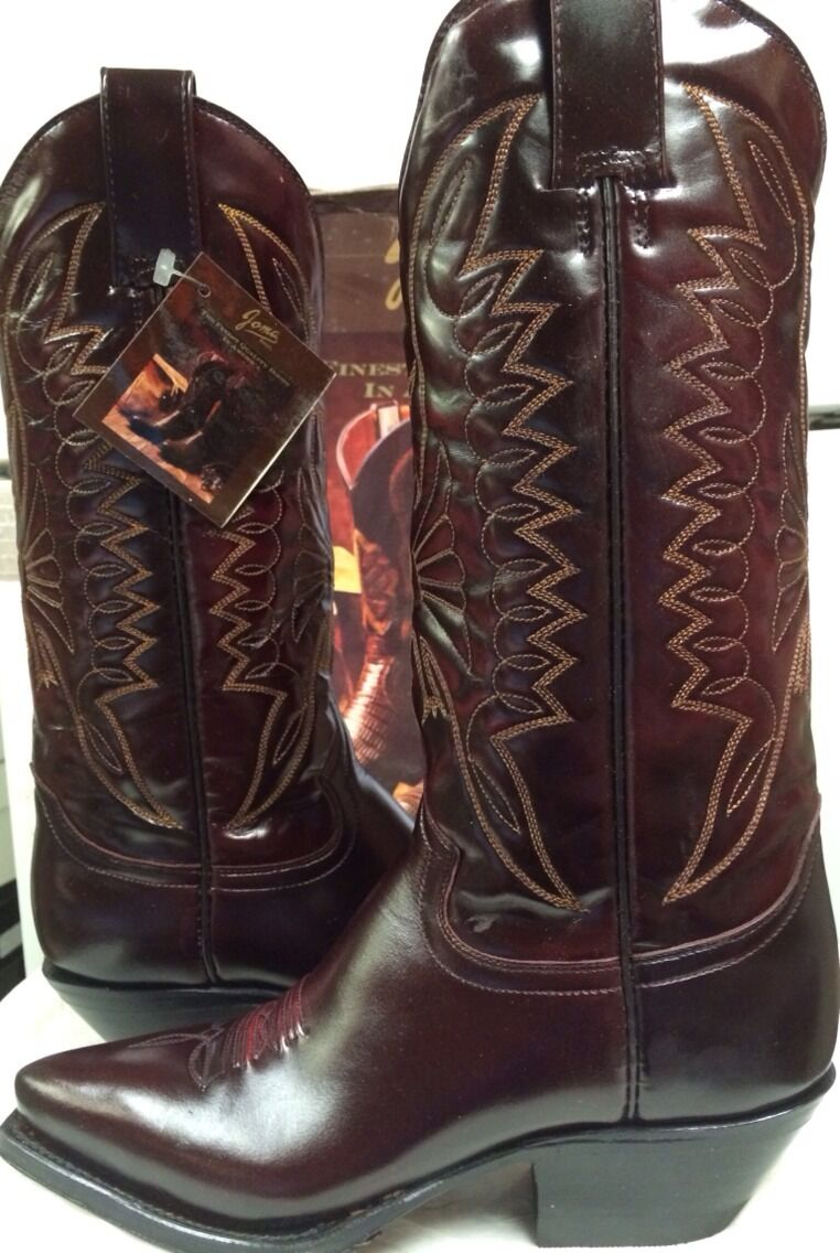 Joma Womens  Western Boots    Burgandy (brown)  Leather  Size 4.5 M NEW 65dbc3