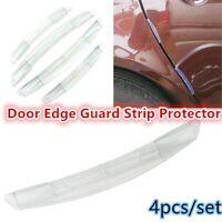 4X Auto Car Door Scratch Edge Guard Moulding Trim Anti Collision Protector Strip