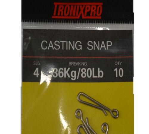 Tronixpro Rolling Swivel 3 Way Cascade Rotten Bottom Hanging Snap Sertissage Clips