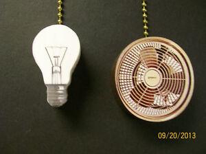 2 light bulb ceiling fan blades ceiling fan pulls ebay. Black Bedroom Furniture Sets. Home Design Ideas