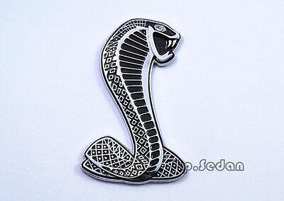 1Pcs Silvery Crystals Eye Viper Side Trunk Sticker Emblem Mustang Cobra Badge
