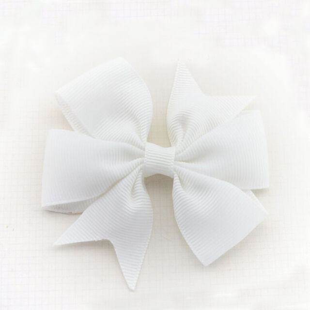 Baby Girls Boutique Big Bow Hair Clips Grosgrain Ribbon Hairpin Headdress