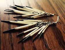 Quill Cluster Earrings Porcupine Native Jewelry