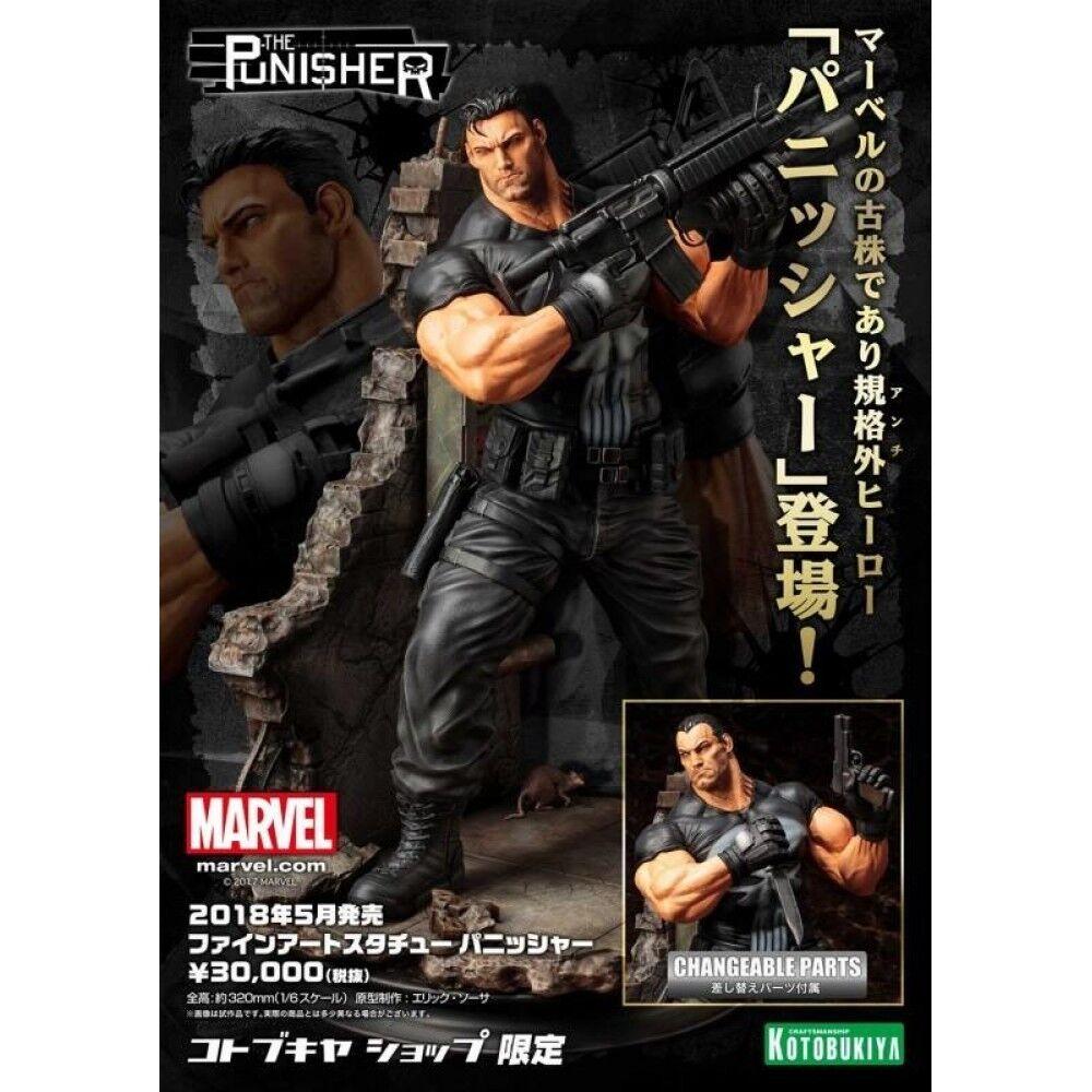Marvel Statue Comics Fine Art Statue Marvel The Punisher Kotobukiya Frank Castle Il Punitore ab3c42