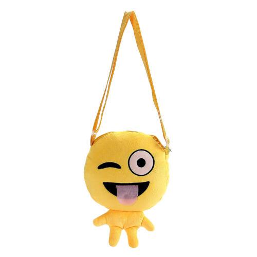 Girls Emoji Faces Emoticon Shoulder Bags Child Backpack Plush Satchel Handbags