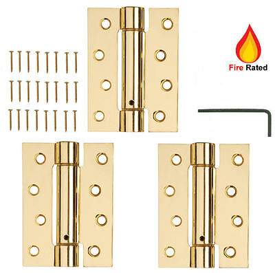 3 X Door Hinges Fire Rated Self Closing Single Action