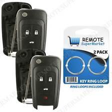 2 Replacement For Chevy Camaro Cruze Equinox Malibu Remote Key Fob 4b Shell Case Fits 2012 Chevrolet Cruze Lt