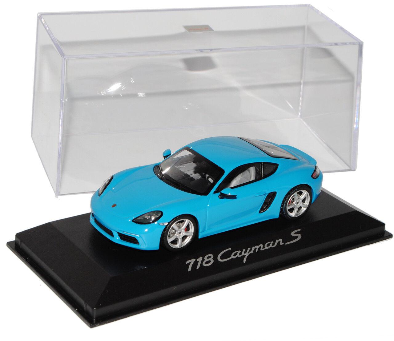 Porsche 718 Cayman Türkis Blau Blau Blau Coupe Ab 2016 1 43 Minichamps Modell Auto mit o..  | Verschiedene Arten und Stile  619807