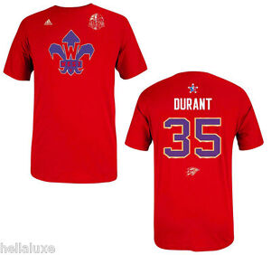 pretty nice c800e 54dfe Details about Adidas KEVIN DURANT Oklahoma Thunder NBA ALL STAR Jersey-T  SHIRT Basketball~Sz L