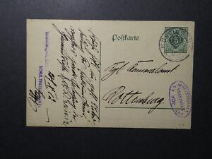 Germany-1910-Postal-Card-Commercial-Handstamp-Z12327