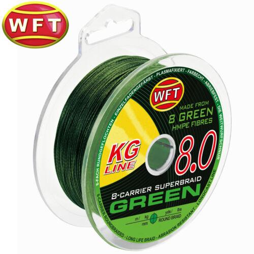 WFT KG 8 grün 150m Spinnschnur 0,17€//1m Geflochtene Angelschnur