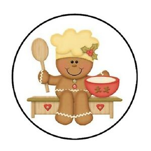 image is loading 48 christmas gingerbread man envelope seals labels stickers - Christmas Gingerbread Man
