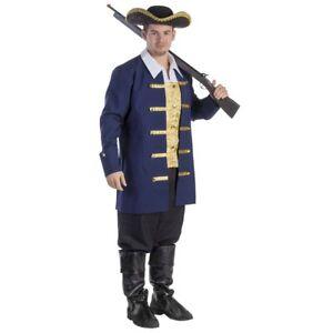 Detalles De Hombre Talla Colonial Aristócrata Adultos Disfraz Vestido Vestido Por América Ver Título Original