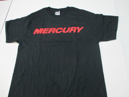 New Authentic Mercury Marine Black Short Sleeve Tee Shirt