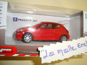 SCATOLA-PEUGEOT-207-3-PORTE-ROSSO-1-43-MONDO-MOTORI